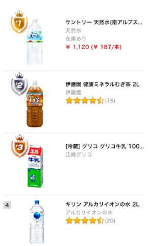 prime now 商品ランキング