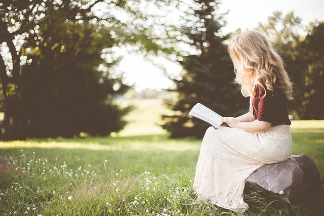 自然で読書