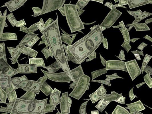 ドルが舞う